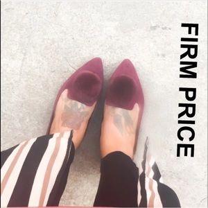 Trendy Pom Pom Pointed Toe Flats